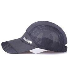Verano de los hombres zapatillas de deporte gorra de béisbol barato sombrero  de visera de malla 3517e722067f