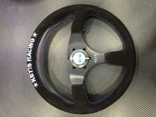 New style Keys Racing Suede black 14inch steering wheel