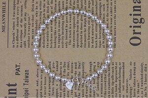 Image 4 - Высокое качество Серебряный цвет счастливый круглый молитва Бусы Браслеты и браслеты для мужчин и женщин модные ювелирные изделия S B10