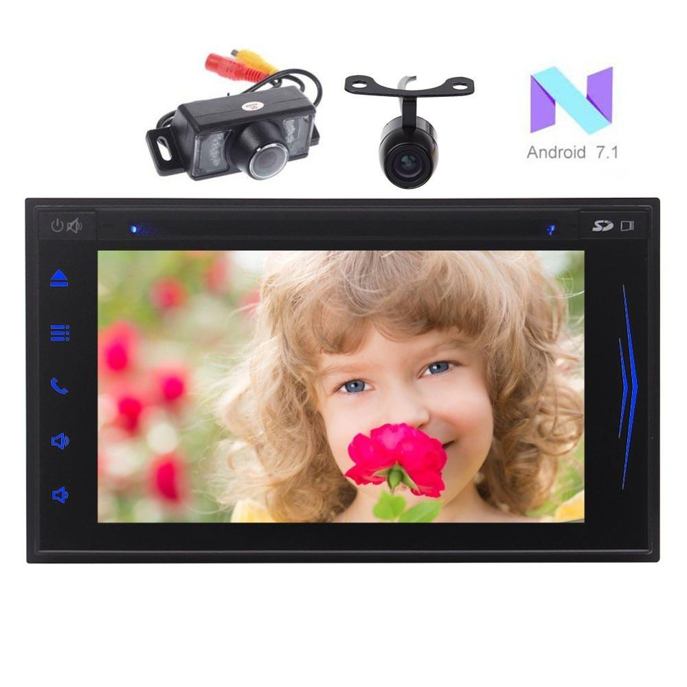 Android 7.1 2 Din Car Stereo Bluetooth 2 Din DVD Player Auto Radio GPS Sat Navigator Sup ...