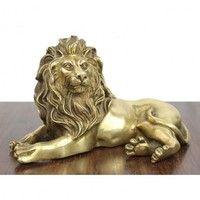 Pure Brass Lion Statue Bedroom Living Room Office Decoration Gifts Home Decorations