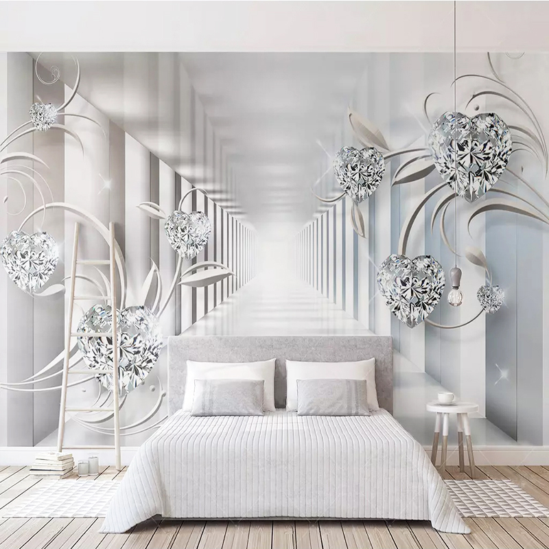 Photo Wallpaper 3D Stereo Abstract Space European Style Pattern Diamond Murals Wall Papers Living Room TV Background Wall Decor