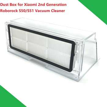 New Original Dust Box for Xiaomi Vacuum Cleaner 2nd Generation Roborock S50 S51 Robot Dustbin Box with Filter Hepa - DISCOUNT ITEM  15% OFF All Category