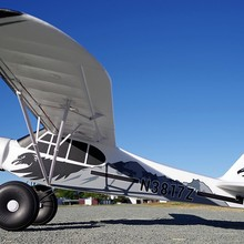FMS модель 1700 мм Гигантский масштаб RC самолет PA-18 J3 Piper Super Cub тренажер