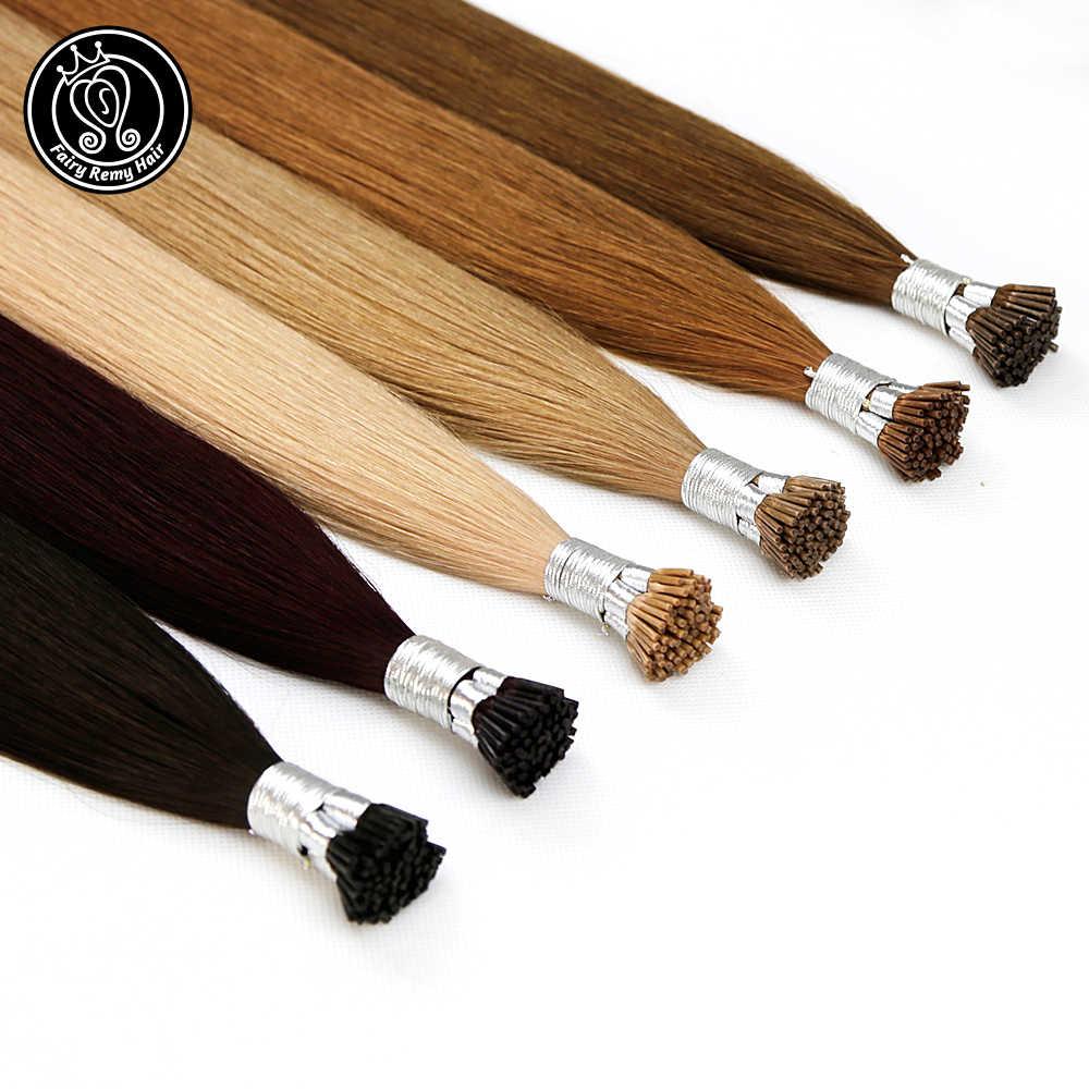 I Tip keratyny Pre związane włosy rozszerzenia prawdziwe Remy rosyjskie włosy ludzkie na kapsułce Fusion włosy 0.8 g/s 16-20 cali 40 g/paczka