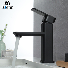 Deck Mounted Basin Taps Bathroom Sink Faucet Brass Black Mixer Water Tap Hot and Cold Basin Faucets Single Handle free shipping wholesale single lever basin mixer tap with deck mounted bathroom basin faucet of hot cold basin sink water faucet