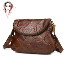 Vintage women leather bag 100% first layer of cowhide genuine leather messenger bags famous brand casual lady's handbag WN009