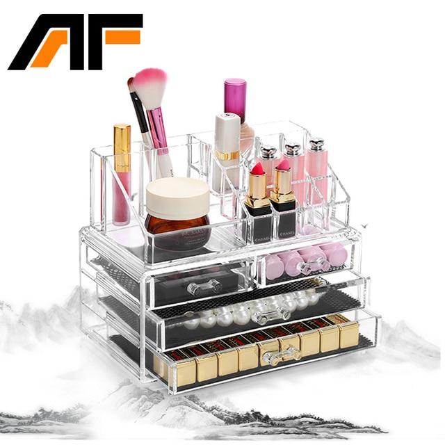 fb2be3c0a54c US $36.16 14% OFF|AF Makeup Organizer Storage Box Acrylic Make Up Organizer  Cosmetic Organizer Makeup Storage Drawers Organizer Organiser C39-in ...
