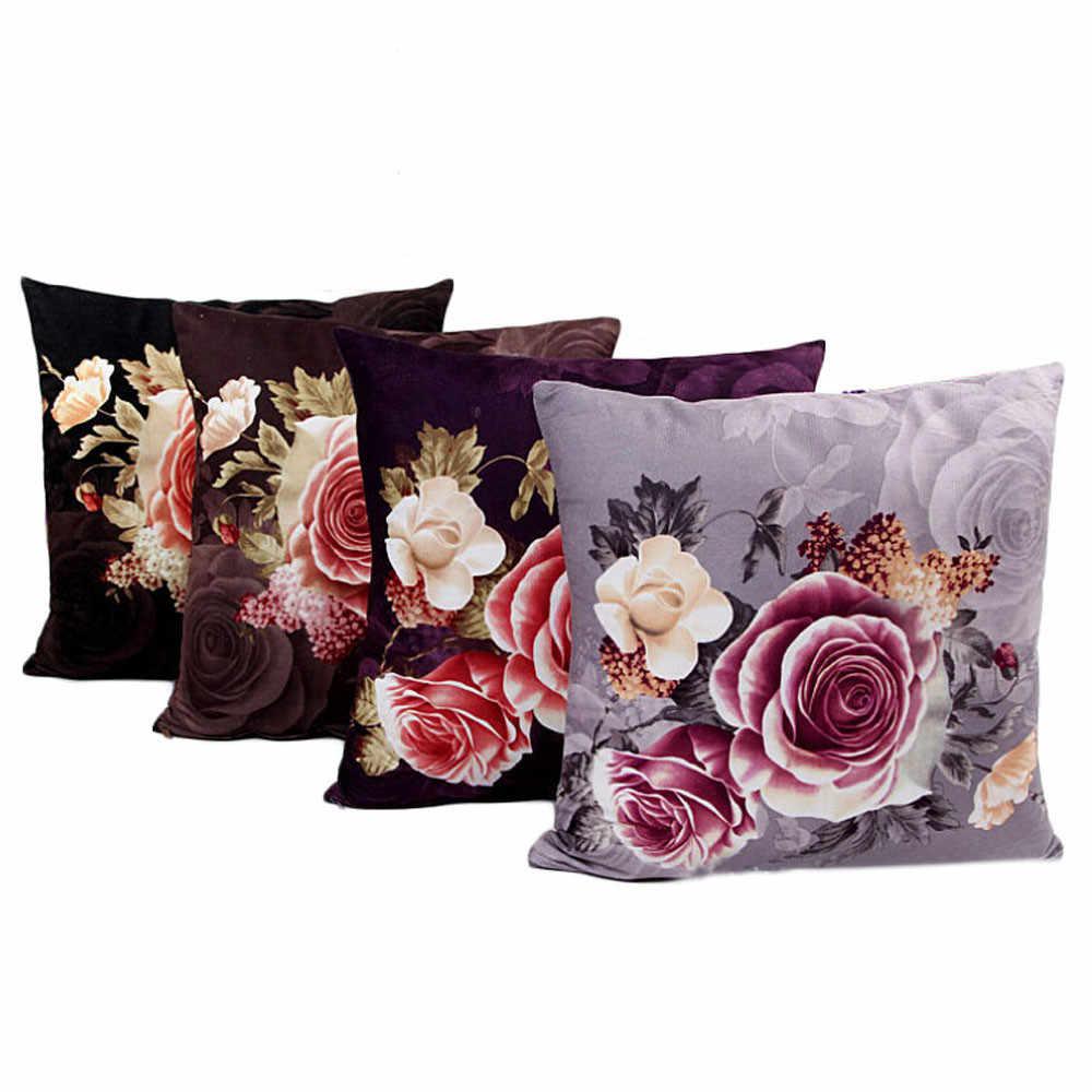 2018 drukowanie barwienia piwonia Sofa poduszka dekoracyjna przypadku poszewka 2o0427