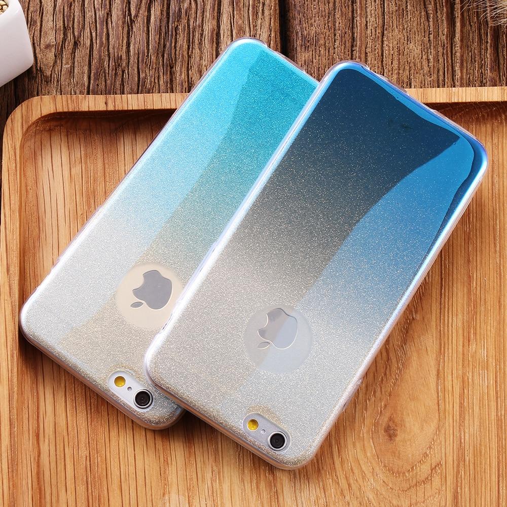 Phone cover iphone 6 case Blue Glitter