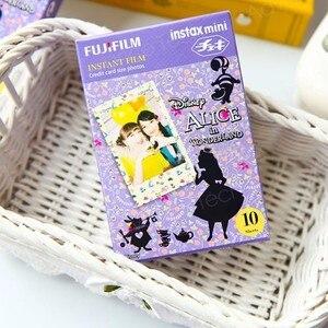 Image 3 - Genuine Fuji Fujifilm Instax Mini Film Alice Carta Fotografica 10pcs Per 9 8 7s 50s 50i 90 25 dw Condividere SP 1 SP 2 Macchina Fotografica Istantanea