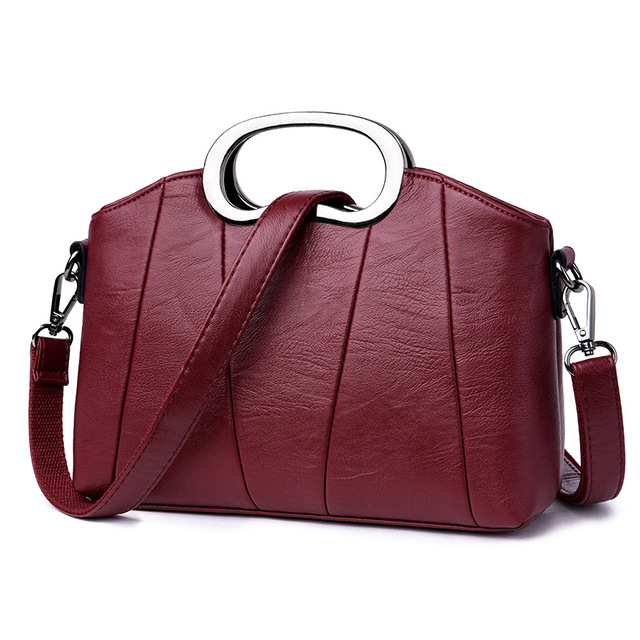 069123fef6c 2019 Genuine Leather Women s Shoulder Bags Women s Shell Tote Bag Famous  Brand Designer Ladies Handbag Messenger Bags