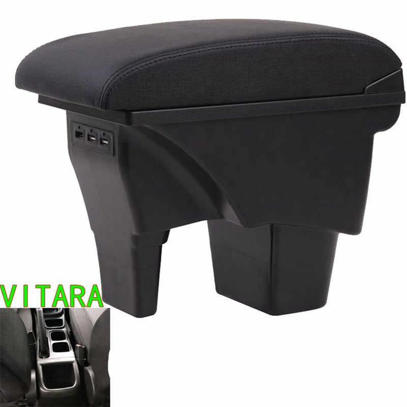 Для Suzuki VITARA подлокотник коробка Suzuki Vitra перфоратор центральный подлокотник можно заряжать