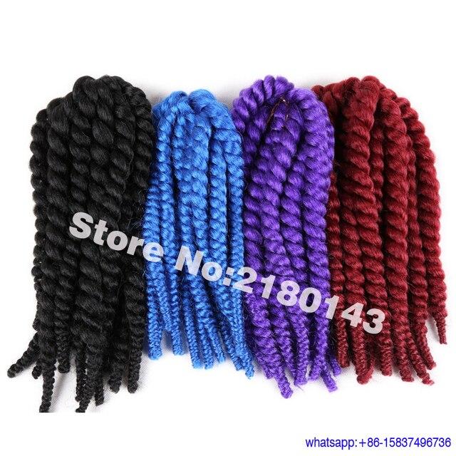 12 Pulgadas de Colores 2X Crochet Giro Trenzado de Cabello Cospaly ...