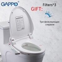 GAPPO умный Туалет сиденья умывальник удлиненные биде крышка с подогревом сидеть Смарт Биде Туалет сиденья чистый сухой Туалет крышка