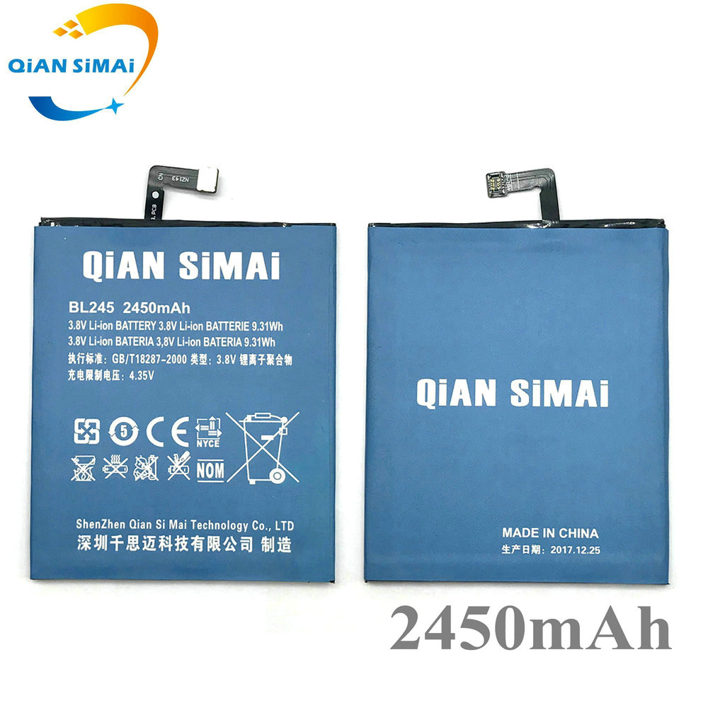 QiAN SiMAi 2017 New High Quality bL245 2450mAh Battery for Lenovo S60 S60T S60W mobile phone in stock+ Track Code
