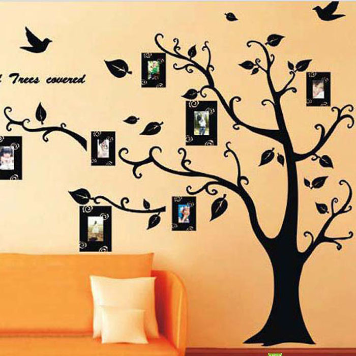 Chaud!! Photo arbre amovible Art 3D Stickers muraux décoration De la maison bricolage Vinilos Paredes Stickers muraux décoration De la maison Adesivo De Parede