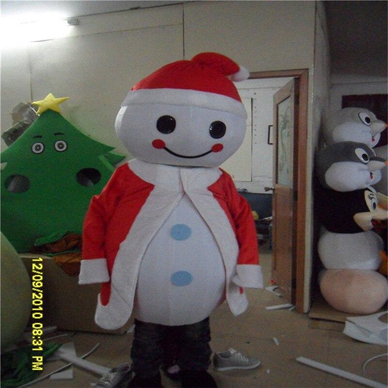 Sneeuwpop In Red Hat Dress Mascotte Kostuum Kostuums Cosplay Party Game Jurk Outfits Kleding Reclame Carnaval Halloween Kerst