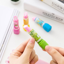 1 pc Novelty Lipstick Erasers Candy Color Rubber Ink Eraser for Kids Prizes Toy Office School Supply Fashion Stationery