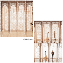 DAWNKNOW Luxurious Indoor Vinyl Photography Backdrops For Wedding Window Polyester Background Lover Photo Studio CM5913