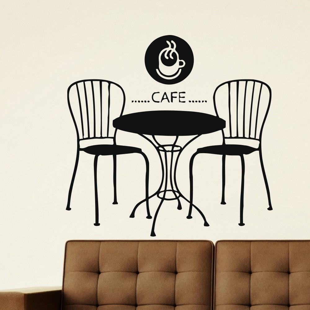 Wall Sticker Coffee Shop Vinyl Wall Decal Cafe Restaurant Design Wall Sticker Shop Window Sticker Coffee Tea Decoration AY767