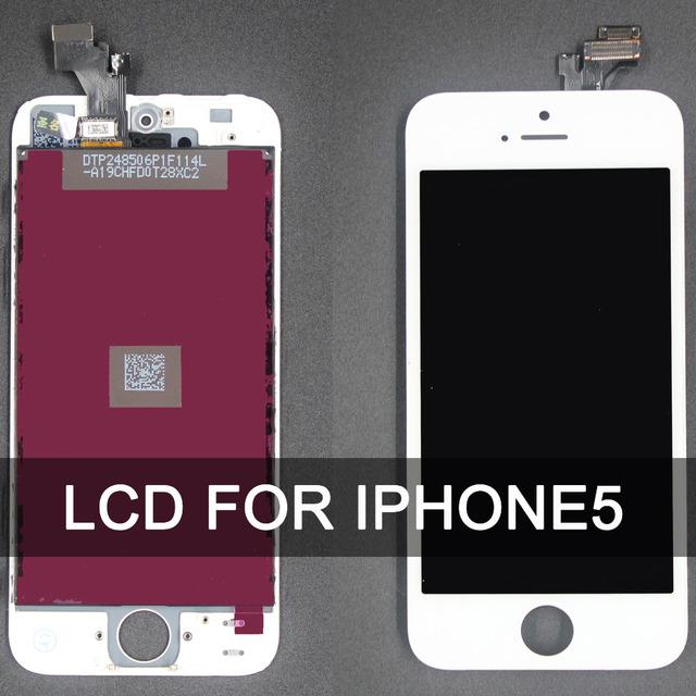 Alta calidad lcd para iphone 5 completa pantalla táctil digitalizador asamblea reemplazo envío gratis ningún pixel muerto