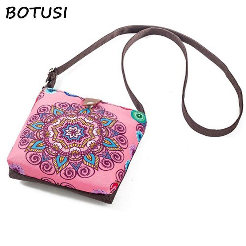 f15869168192 BOTUSI с цветочным принтом модная сумка Ladiy роскошные сумки 2018 женские  сумки мини-сумки на плечо Young кошелек для девочек брендовые сумки через п.