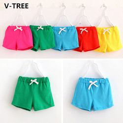 V tree boys girls cotton shorts baby boy girl solid sport knitted shorts teenagers casual pants.jpg 250x250