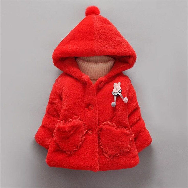 fashion faux fur princess outerwear for winter warm comfortable hooded coats infant toddler cartoon wing clothing