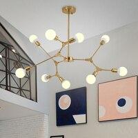 Golden Spider Chandelier for Living room Bedroom Kitchen Hallway scandinavian chandelier Loft Industrial Art Decor sputnik lamp