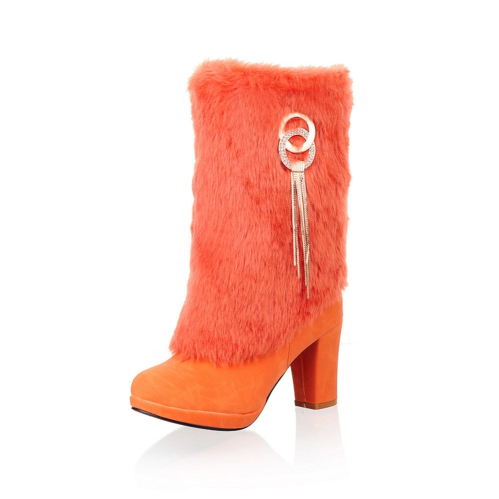 Aloeent Women Snow Boots Winter warm high heel snow boots Fashion Sexy Long snow boots цена