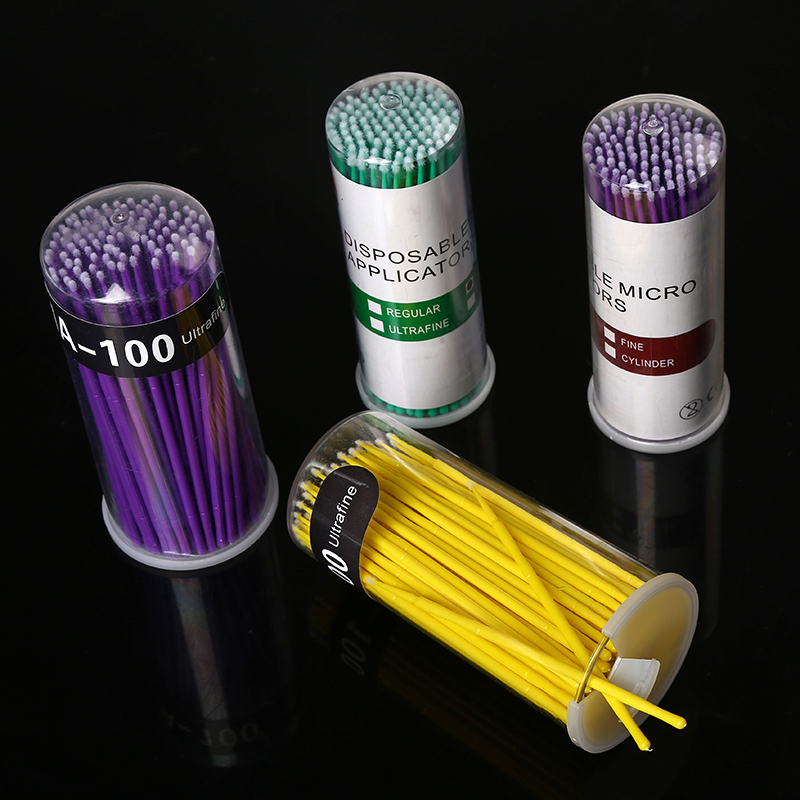 500pcs/set Disposable Makeup Mini Cotton Swabs For Eyelash Extension Individual Applicators Home Mascara Brush Cotton Soft Swab