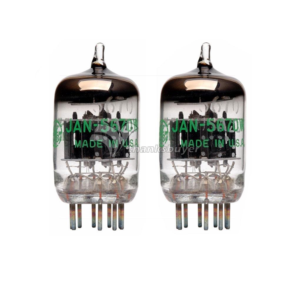2pcs GE 5670W 5670 2C51 JAN G E TUBE Western Electric 396A Tube