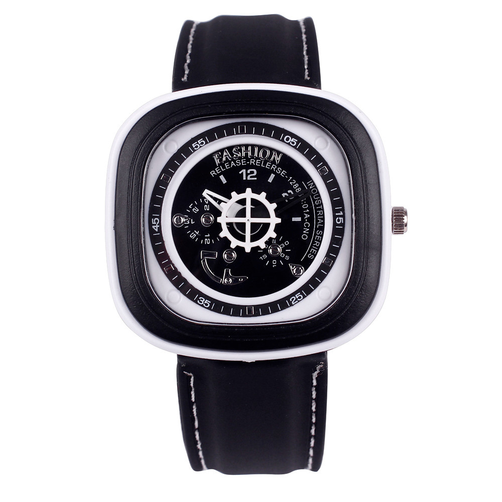 2016 mens watches top brand luxury Rubber Band Square Quartz Watch Casual leisure sports life Wrist Unisex bracelets Mance