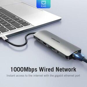 Image 4 - Vention Thunderbolt 3 Dock USB רכזת סוג C כדי HDMI USB3.0 RJ45 מתאם עבור MacBook סמסונג דקס S8/S9 huawei P30 פרו usb c מתאם