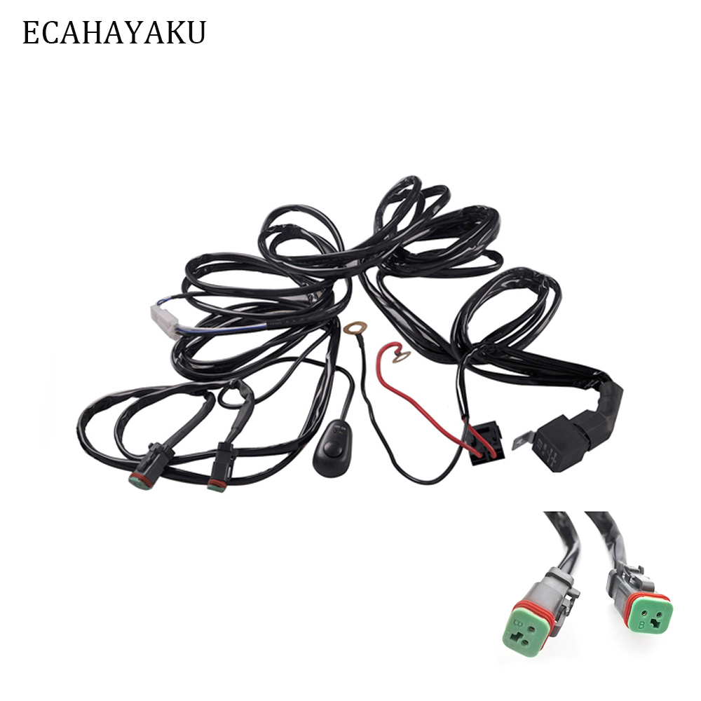 [SCHEMATICS_48YU]  ECAHAYAKU 3 meters Car light wire wiring harness on off switch set for Led  light bar offroad headlights fog lamp Led work lights-in Wire from  Automobiles & Motorcycles on AliExpress | Led Lighting Wiring Harness |  | www.aliexpress.com