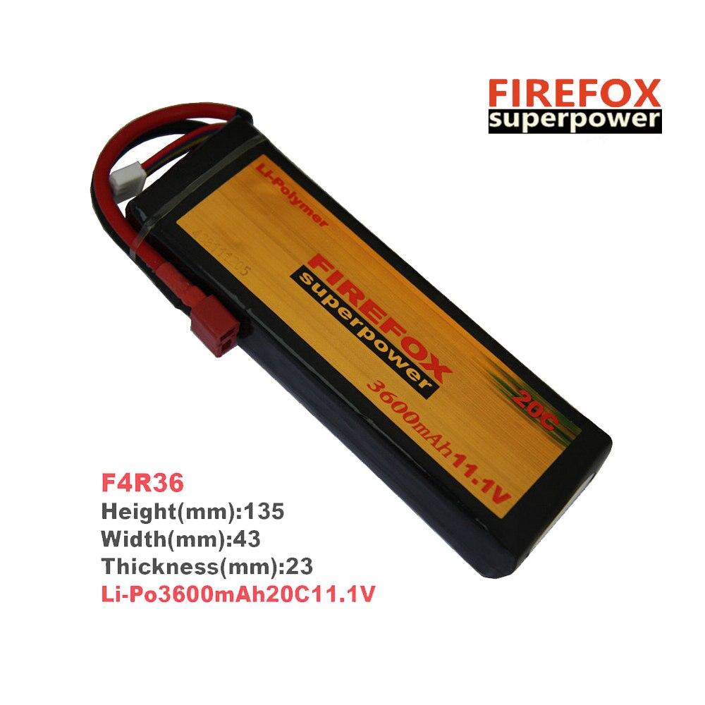 1pcs 100% Orginal FireFox 11.1V 3600mAh 20C Li Po AEG Airsoft RC Battery F4R36 1pcs 100% orginal firefox 11 1v 1500mah 15c li po aeg airsoft battery f3l15c drop shipping