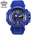 Cool Blue Sport Watches Big Dial LED Digital Watch Shock Resistant 30M Waterproof relogios masculino montre homme Men GiftWS1509