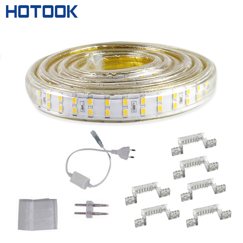 Double Row 220V 5M 2835 Led Strip Light Waterproof IP68 180leds/m Tape Cold/ Warm White Outdoor Underwater High Brightness 1set