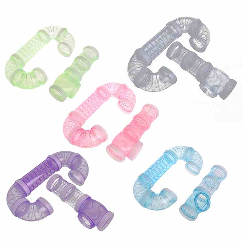 US $7 25 21% OFF|High Quality Plastic Hamster Accessories Cage External DIY  Pipeline Tunnel Fittings U Shape Tube Exercise Cage Accessories-in Tubes &