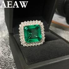 ファインジュエリーリアル 14 18k ローズゴールド 8ct AAA コロンビアラボ栽培エメラルドのようなモアッサナイト宝石の結婚指輪