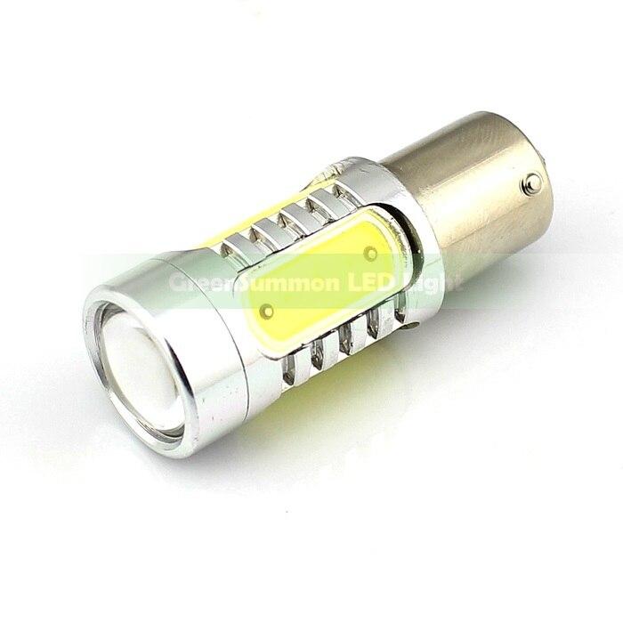 2 шт./лот 1156 BA15S S25 P21W 7,5 W SMD Светодиодная Лампочка резервного копирования Фары заднего хода супер яркий белый светодиодный светильник для DC 12V 360 градусов