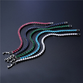 Cubic Zirconia Tennis Bracelets Iced Out Chain Crystal Wedding Bracelet 4