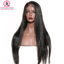Silky Straight Silk Base Full Lace Human Hair Wigs Pre Plucked Hairline With Baby Hair Brazilian Remy Hair Lace Wigs Rosa Queen