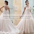Vestido де Noiva novia-принцеса кружева бальные платья свадебное платье в стиле кантри свадебные платья 2015 Vestido де Noiva ренда Casamento
