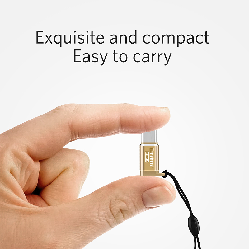 Earldom Micro USB To Type C OTG for Samsung Note 9 8 S9 S8 Converter Adaptor Fast Charger Data with Key Chain for Huawei P20 Pro