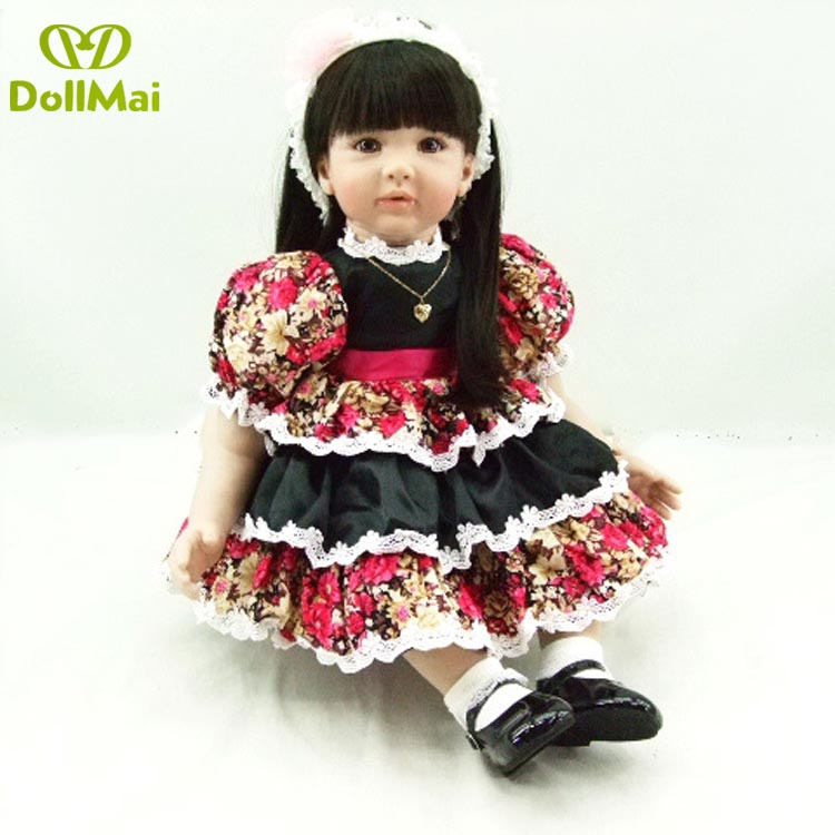 baby reborn Silicone dolls, lifelike doll reborn babies for Childrens toys 24inch 60cm The red dress doll very cutebaby reborn Silicone dolls, lifelike doll reborn babies for Childrens toys 24inch 60cm The red dress doll very cute