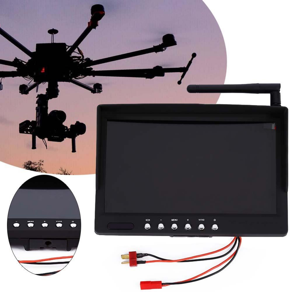 5.8G 7in LCD 40Ch Insert Digital Display Image Transmission Receiver Monitor wavelets in image communication 5