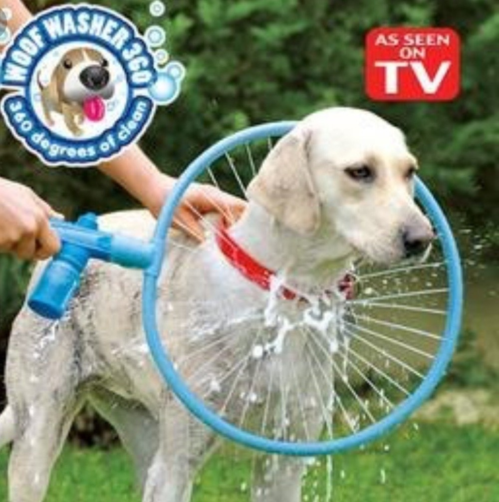 Woof Washer 360 Round Shape Pets Cleaner For Dog Convenient Clean Tool Easy Using Washing Gun