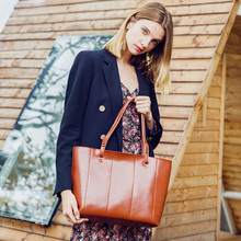 2019 Fashion Trend Women Bag Genuine Leather  New Arrival Handbag Ladies Shoulder Big Capacity Tote